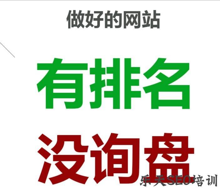 眉山SEO培训:seo优化:网站有排名却没有询盘为什么?